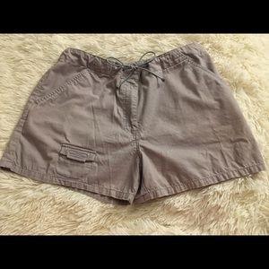 Express Blue Khaki Shorts